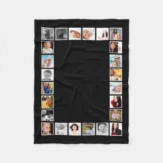 Make Your Own Personalized 24 Photo DIY Custom Fleece Blanket