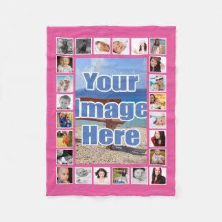 Make Your Own Personalized 25 Photo DIY Custom Fleece Blanket