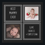 "Make Your Own Personalized 2 Photo Black Faux Canvas Print<br><div class=""desc"">Black and white - Make Your Own Personalized 2 Photo keepsake wall art - Faux Wrapped Canvas Print from Ricaso - add your own photos and text - photo collage keepsake gifts</div>"