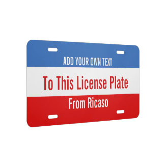 Make Your Own Personalized Custom DIY License Plate