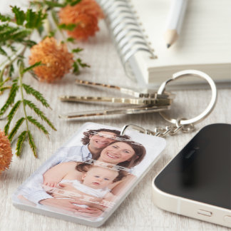 Make Your Own Personalized DIY Custom 2 Sided Double-Sided Rectangular Acrylic Keychain