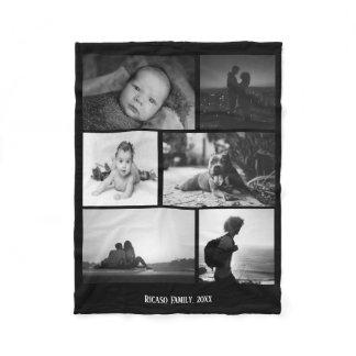 Make Your Own Personalized DIY Custom 6 Photo Fleece Blanket
