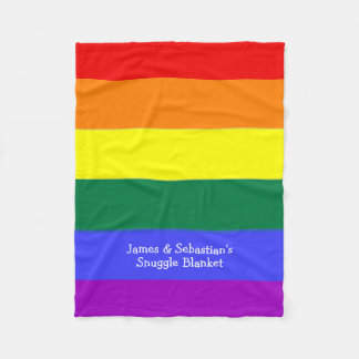 Make Your Own Personalized Gay Pride Flag Fleece Blanket