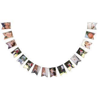 Make your own personalized photo template bunting flags