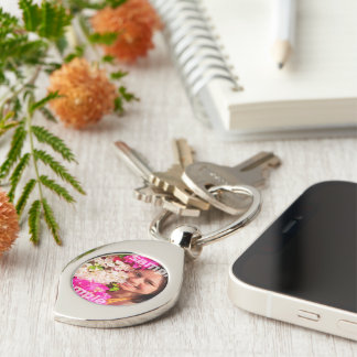 Make Your Own Personalized Silver-Colored Swirl Metal Keychain