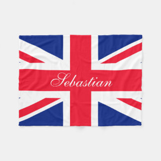 Make Your Own Personalized UK Flag Fleece Blanket