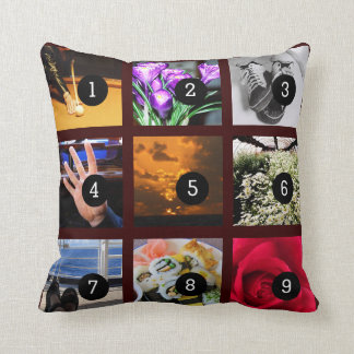 Make Your Own Photo album with 9 images Pillow
