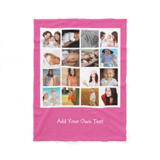 Make Your Own Photo Collage Personalized Fleece Blanket
