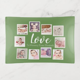 Make Your Own Photo Collage Personalized Green