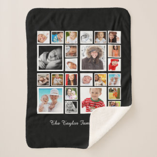 Make Your Own Photo Collage Personalized Sherpa Blanket