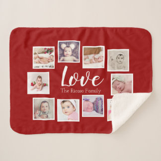 Make Your Own Photo Collage Unique Personalized Sherpa Blanket