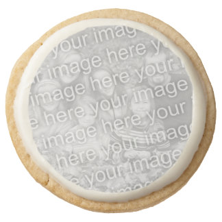 Make your own photo cookies Add your picture image Round Premium Shortbread Cookie