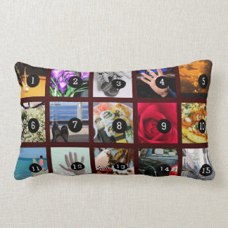 Make Your Own Photo decoration with 15 images Throw Pillow