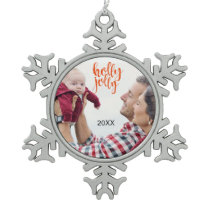 Make Your Own Photo Holly Jolly Snowflake Ornament