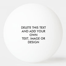 Make Your Own Ping Pong Ball Design