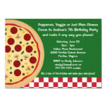 Make Your Own Pizza Kids Birthday Party Card