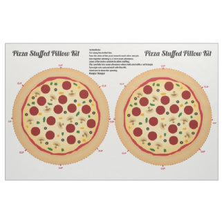 Make Your Own Pizza Stuffed Pillow Fabric