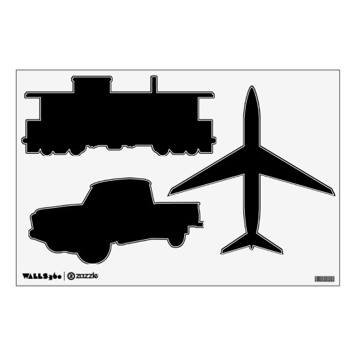 Make Your Own Planes Trains Automobiles Wall Decal Zazzle