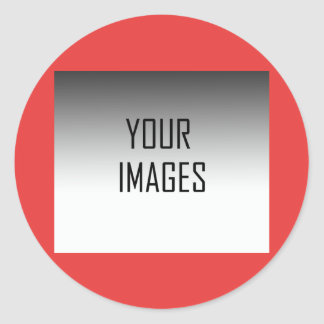 MAKE YOUR OWN RED - PHOTOS CLASSIC ROUND STICKER