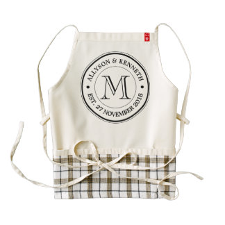 Make Your Own Retro Logo Typography Monogram Zazzle HEART Apron