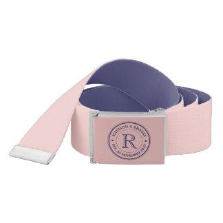 Make Your Own Rose Quartz Pink Logo Monogram Belt