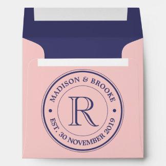 Make Your Own Rose Quartz Pink Logo Monogram Envelope