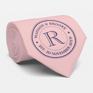 Make Your Own Rose Quartz Pink Logo Monogram Tie
