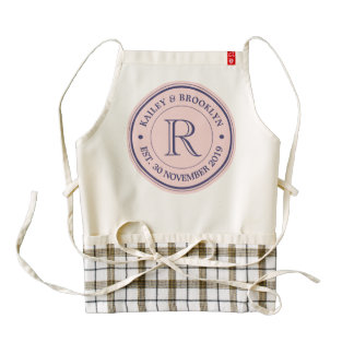 Make Your Own Rose Quartz Pink Logo Monogram Zazzle HEART Apron