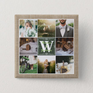 Make Your Own Rustic Wedding Instagram Collage Button