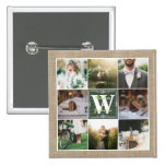 Make Your Own Rustic Wedding Instagram Collage Button at Zazzle