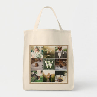 Make Your Own Rustic Wedding Instagram Collage Tote Bag