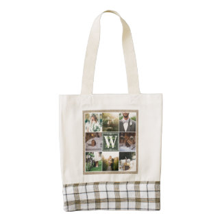 Make Your Own Rustic Wedding Instagram Collage Zazzle HEART Tote Bag