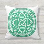 Make Your Own Shamrock Green Celtic Knot Irish Outdoor Pillow