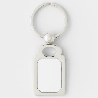 Make Your Own Silver Color Metal Rectangle Keyring Silver-Colored Rectangular Metal Keychain
