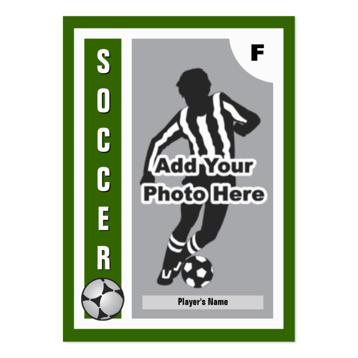 make your own soccer card zazzle. Black Bedroom Furniture Sets. Home Design Ideas