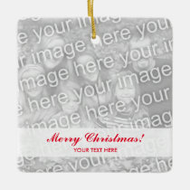 Make your own square Christmas tree photo ornament