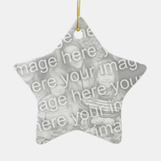 Make your own star shape Christmas photo ornament
