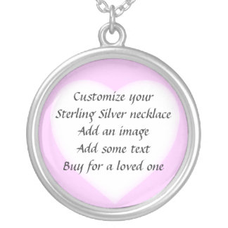Make your own Sterling Silver Pink Heart Necklace