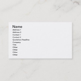 Make Your Own Tattoo Business Card profilecard