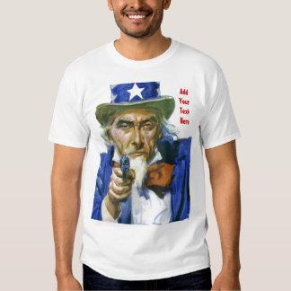 MAKE YOUR OWN Uncle Sam Holding GUN Shirt