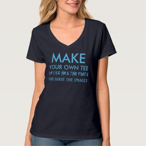 Make your own V_neck shirt