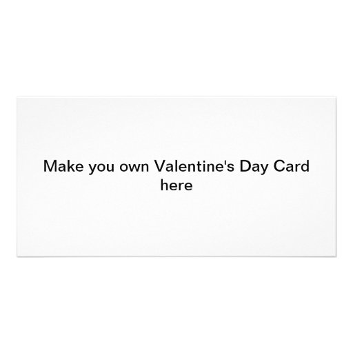 Make your own valentine 39 s day cards personalized photo How to make a valentine card for your girlfriend
