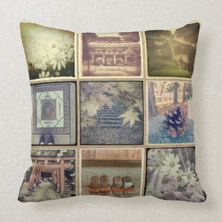 Make Your Own Vintage Burlap Instagram Pic Collage Throw Pillow