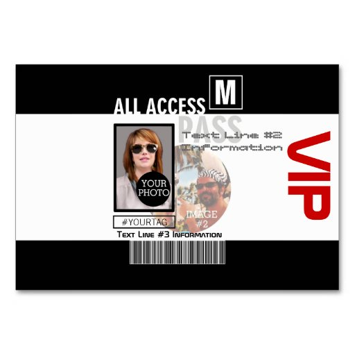 how to make your own vip cards