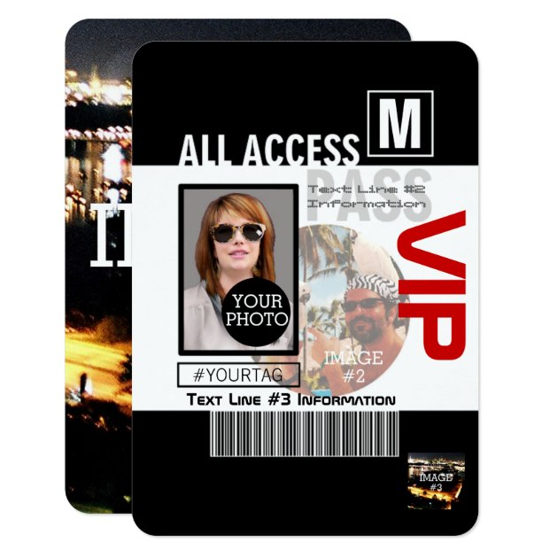 Make Your Own VIP Pass 8 ways to Personalize Card | Zazzle
