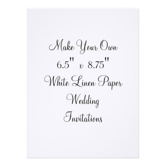 Make Your Own Wedding Invitations 6 5 x 8 75