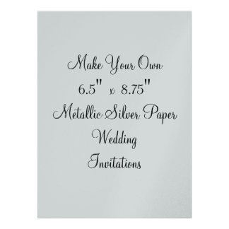 """Make Your Own Wedding Invitations  6.5"""" x  8.75"""""""