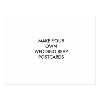 Make Your Own Wedding RSVP Postcard