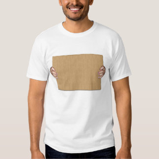 Make your own writing on cardboard 2 sides. t shirt