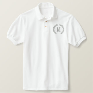Make Your Personalized Monogram Laurels Embroidery Embroidered Polo Shirt